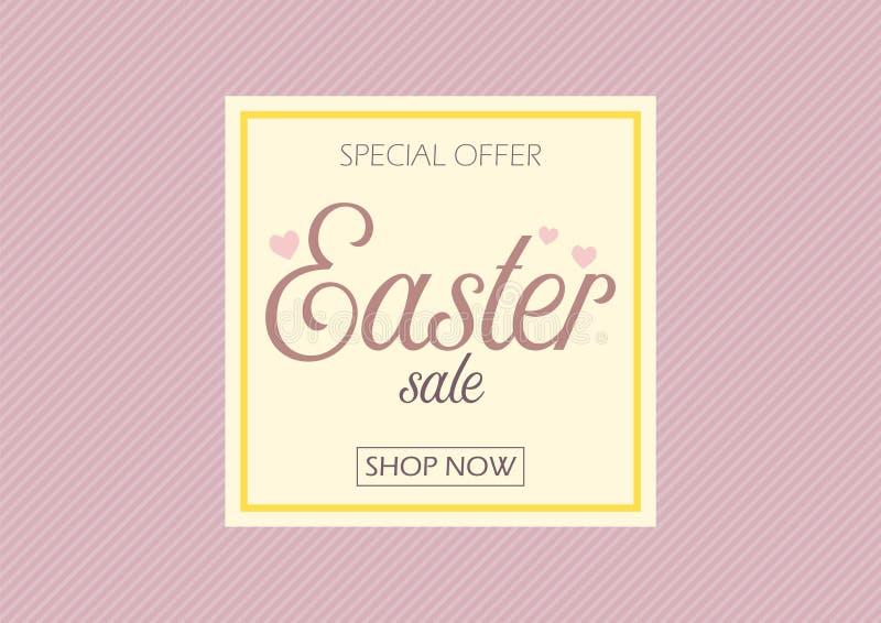 Easter sale banner vector illustration