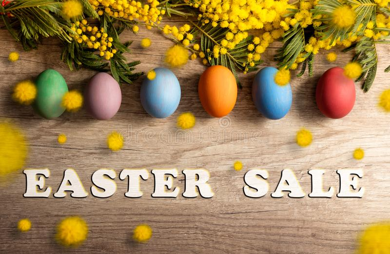 Easter sale banner royalty free stock photo