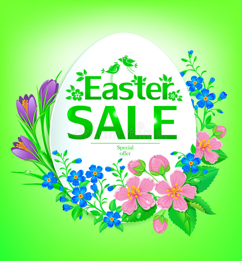 Easter sale stock illustration