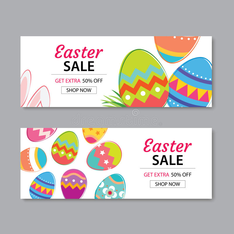 Easter Sale Banner Template BackgroundCan Be Used For Voucher
