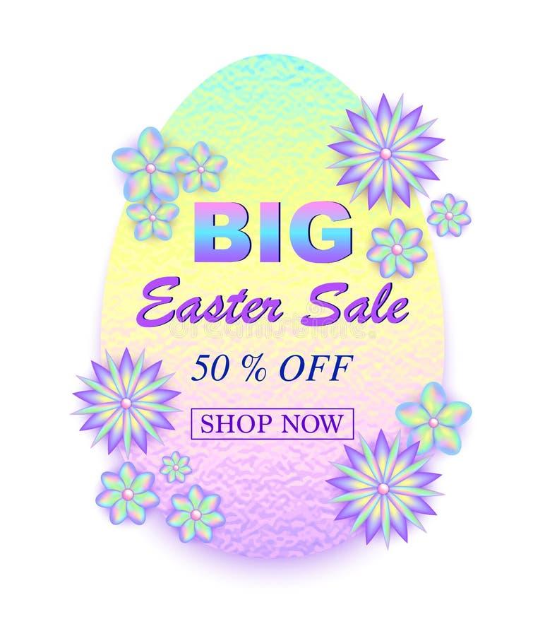 Easter sale card stock illustration