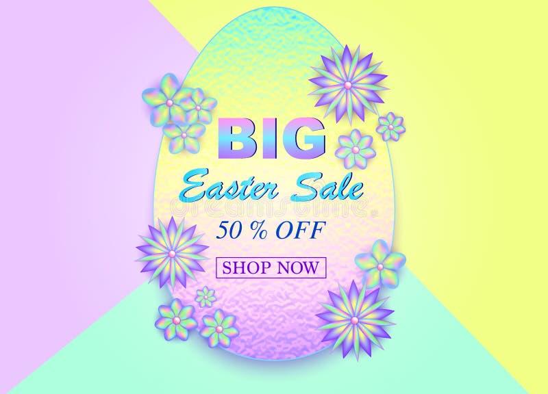 Easter sale card royalty free illustration