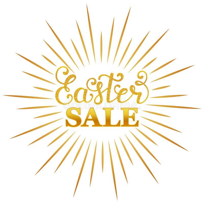 Easter sale inscription royalty free illustration