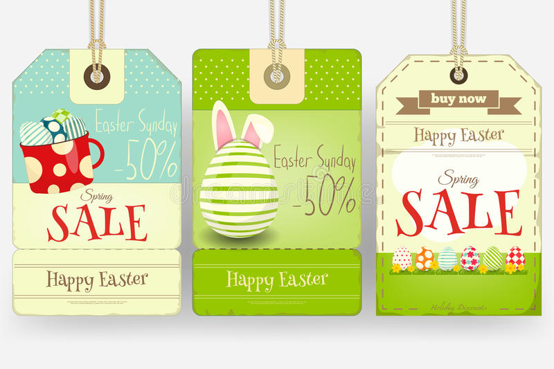Easter Sale Tags stock illustration