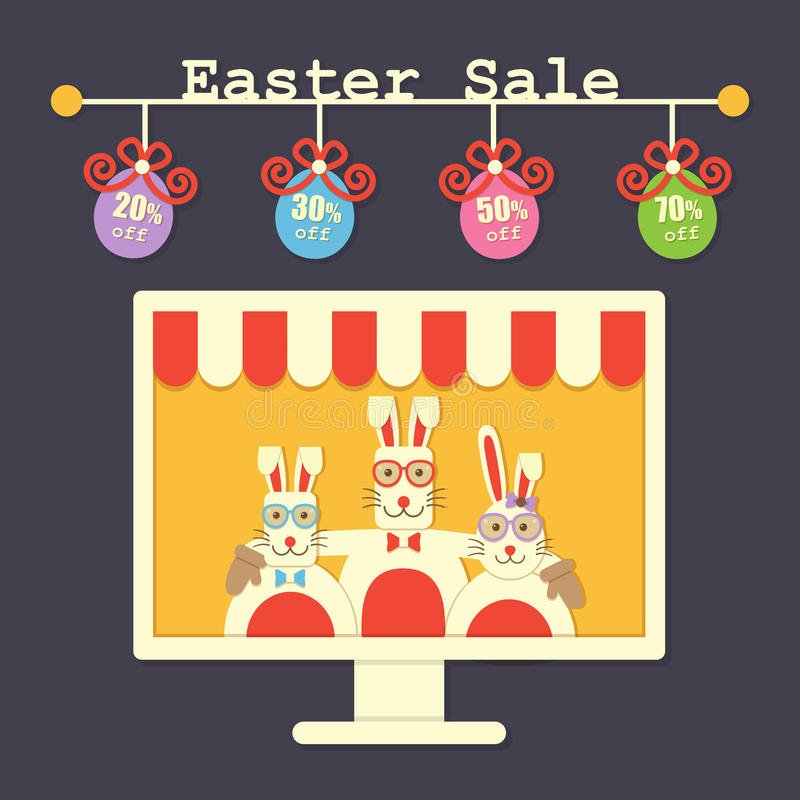 Easter sale royalty free illustration