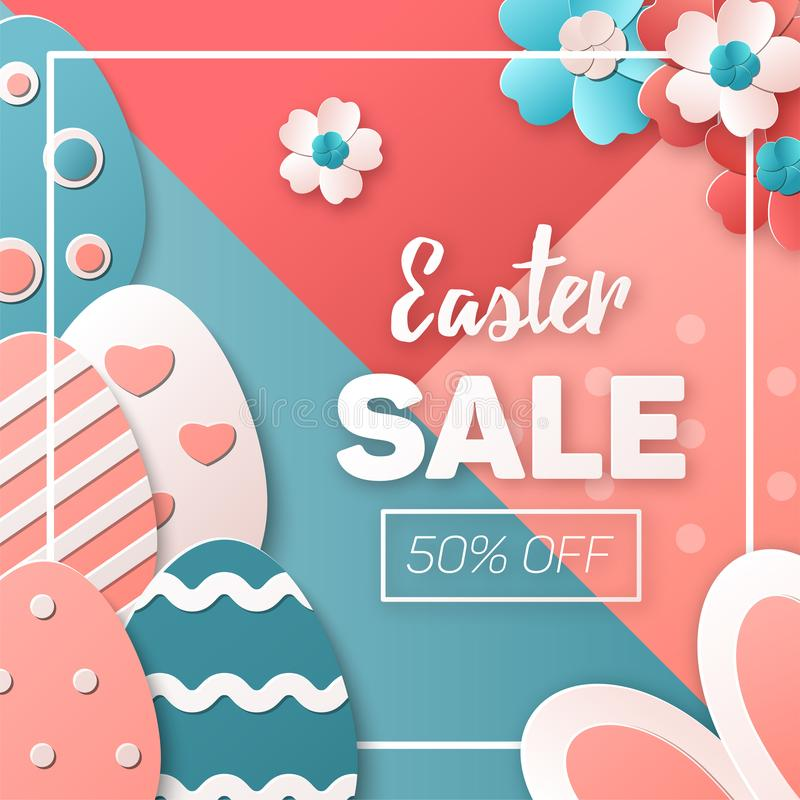 Easter Sale. Vector template royalty free illustration