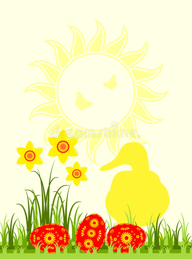 Download Easter scene stock vector. Image of bloom, country, flores - 29347200