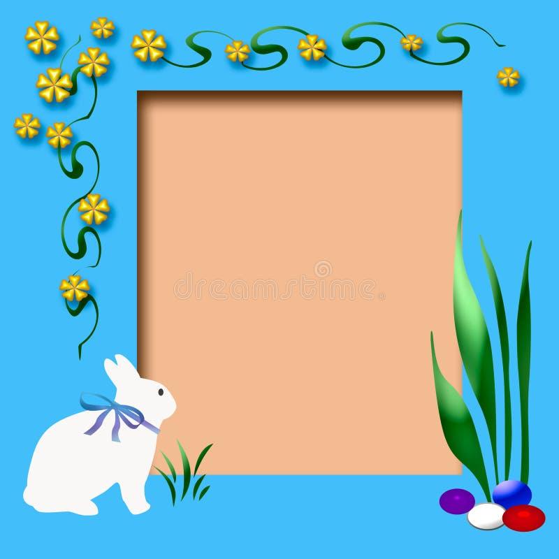 Easter scrapbook frame royalty free illustration