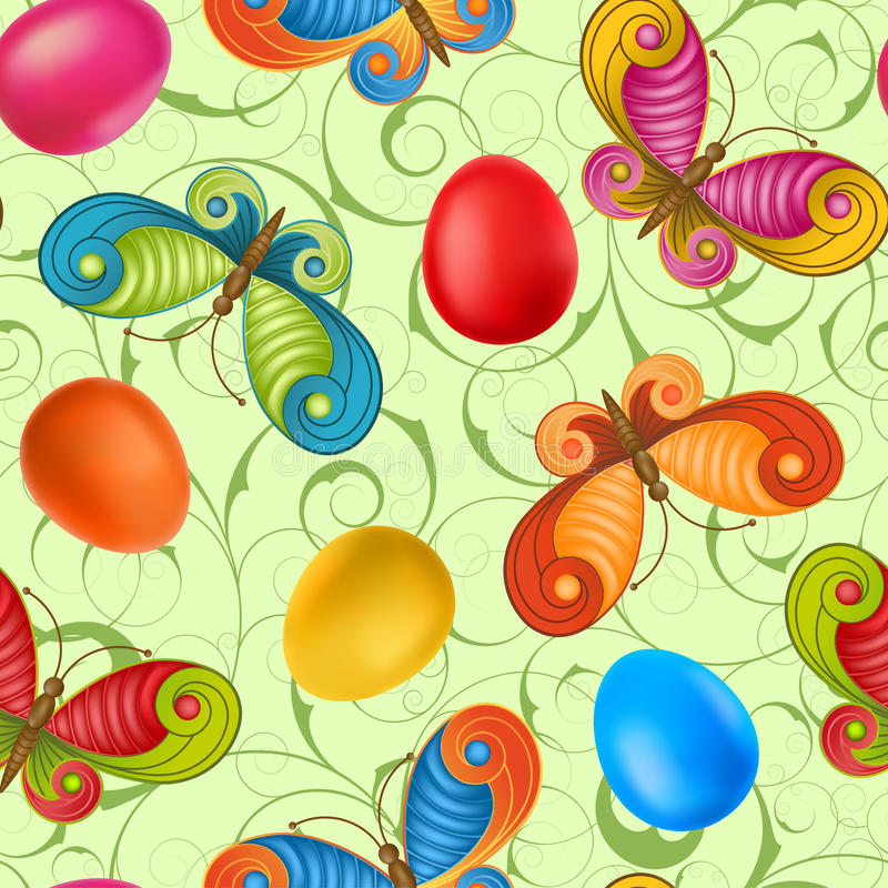 Easter seamless royalty free illustration