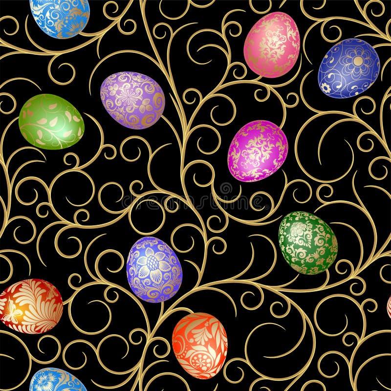 Easter seamless stock illustration