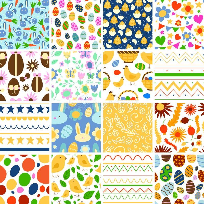 Easter seamless pattern background retro vintage design vector. stock illustration