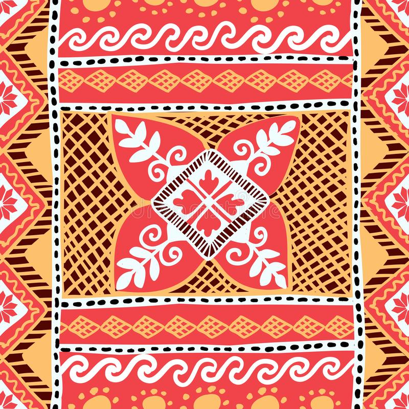 Easter Seamless Pattern with Native Slavonic Ukrainian Pysanka Ornament. Easter Seamless Pattern with Native Slavonic Ukrainian Pysanka Plant Ornament vector illustration