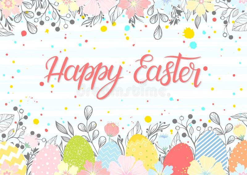 Easter seasons greetings card stock illustration