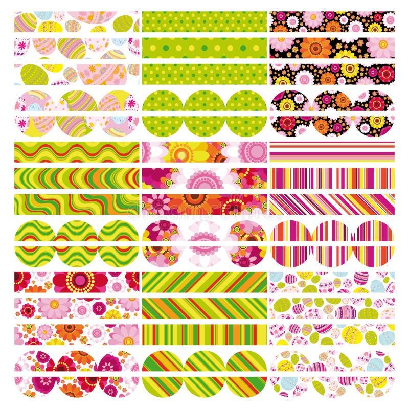Easter set of border, design elements. vector illustration
