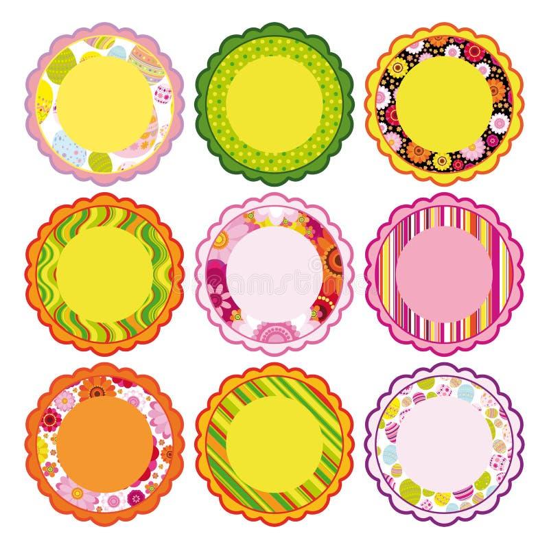 Easter set of Frame, design elements. royalty free illustration