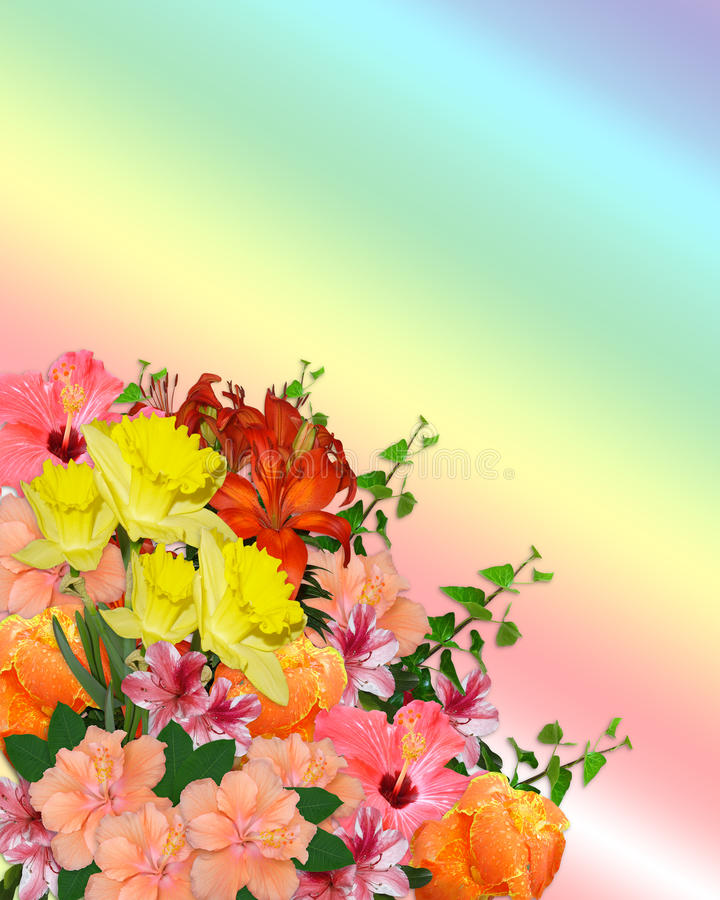 Easter Spring flowers bouquet stock photo