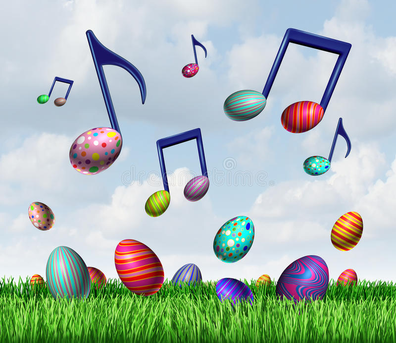 Easter Spring Music stock illustration