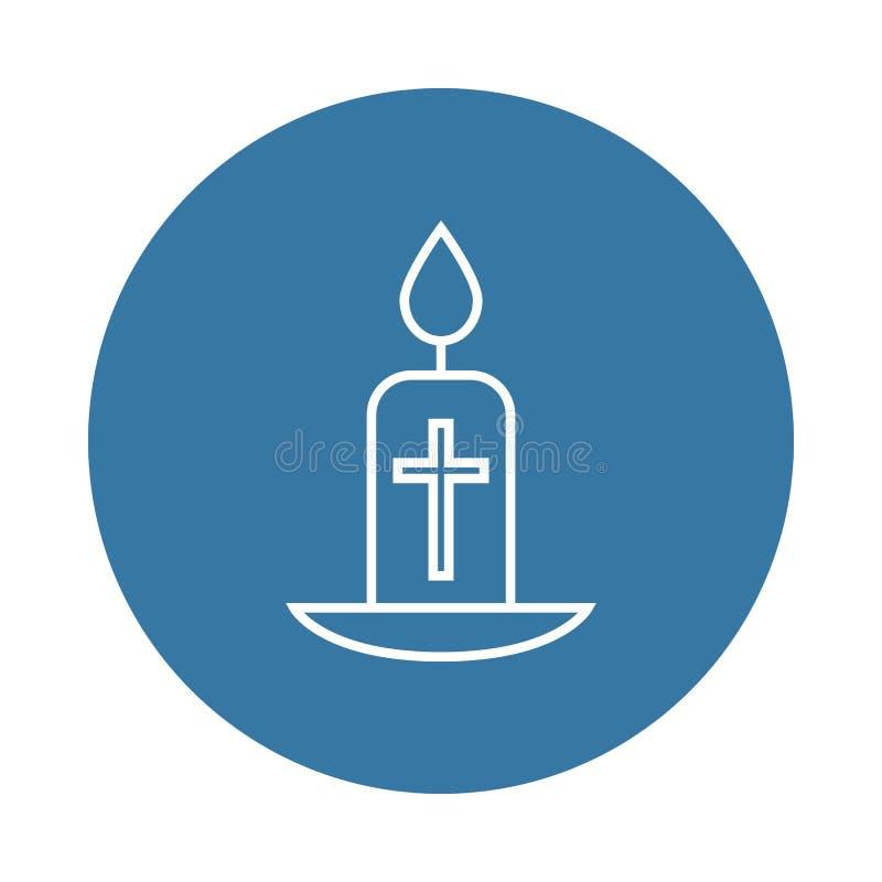 easter stearinljussymbol Beståndsdel av easter symboler för mobila begrepps- och rengöringsdukapps Symbolen för den emblemstileas vektor illustrationer