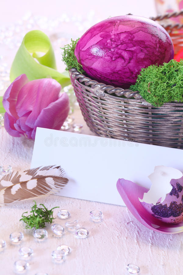 Download Easter Still Life stock photo. Image of deco, banner - 23761638