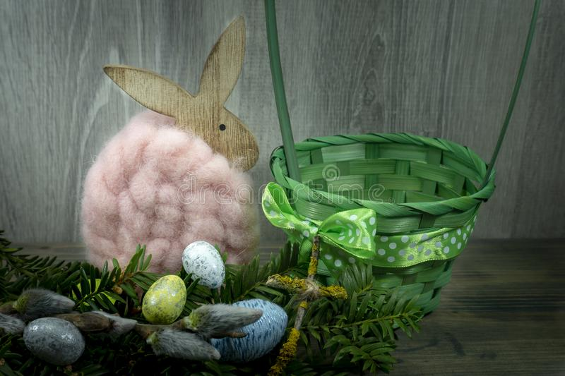 Easter still life or card design stock images