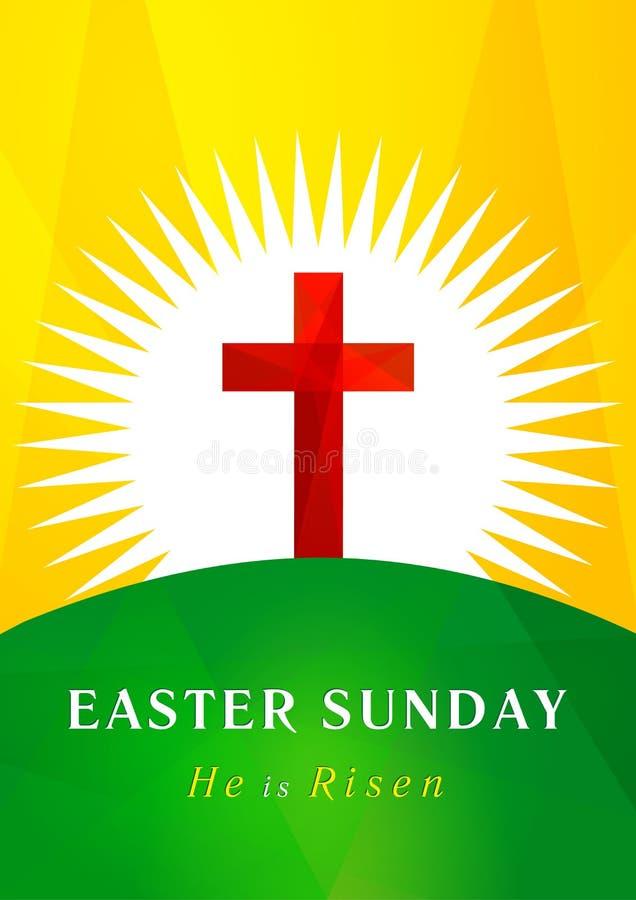 Easter Sunday calvary card vector illustration