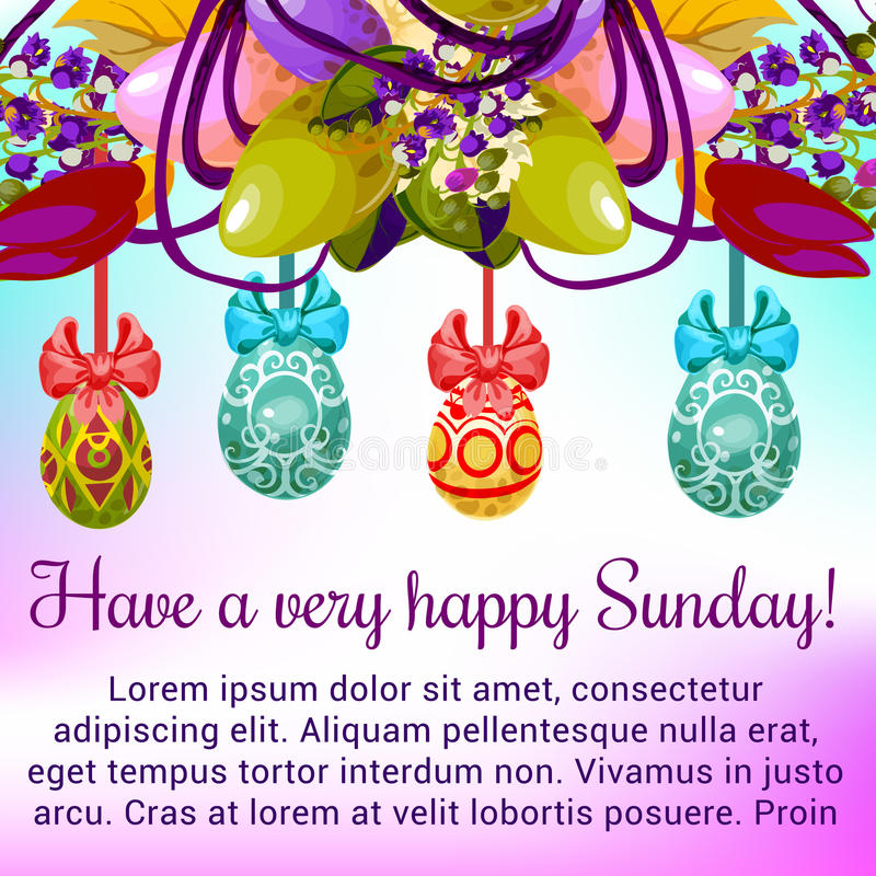 Easter sunday greeting card with egg and flower stock vector download easter sunday greeting card with egg and flower stock vector illustration of easter m4hsunfo