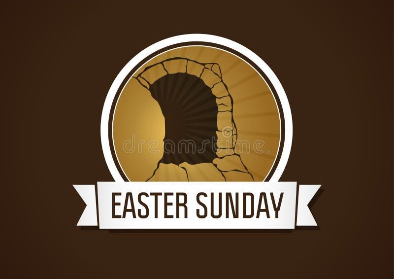 Easter sunday holy week stock illustration