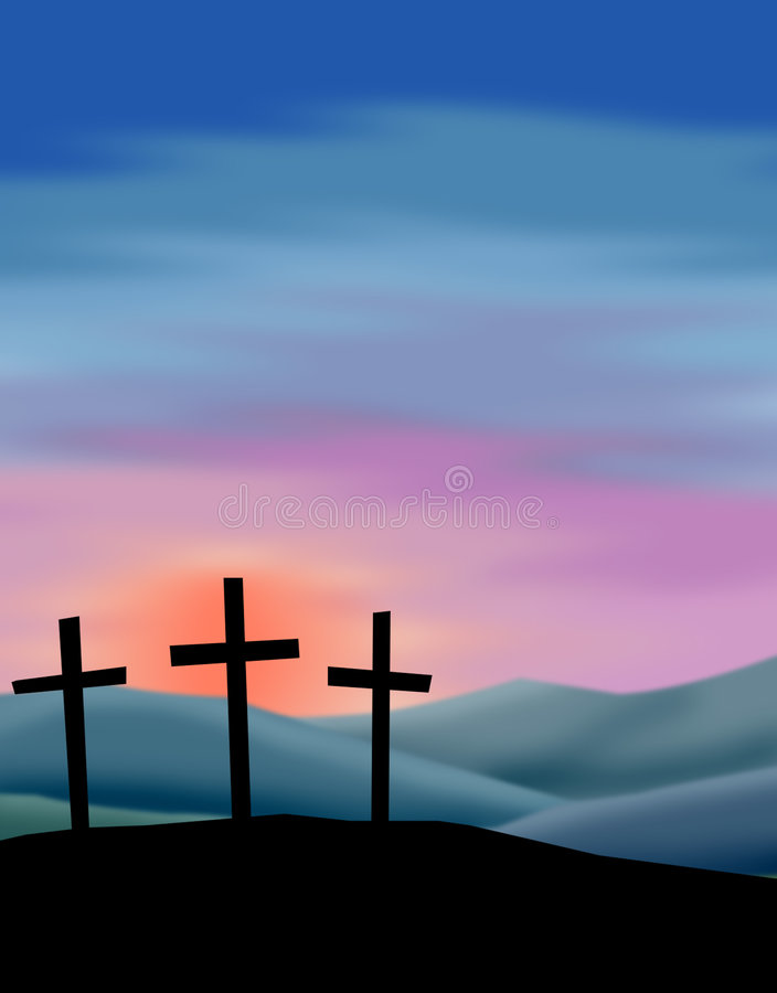 Easter Sunrise stock illustration