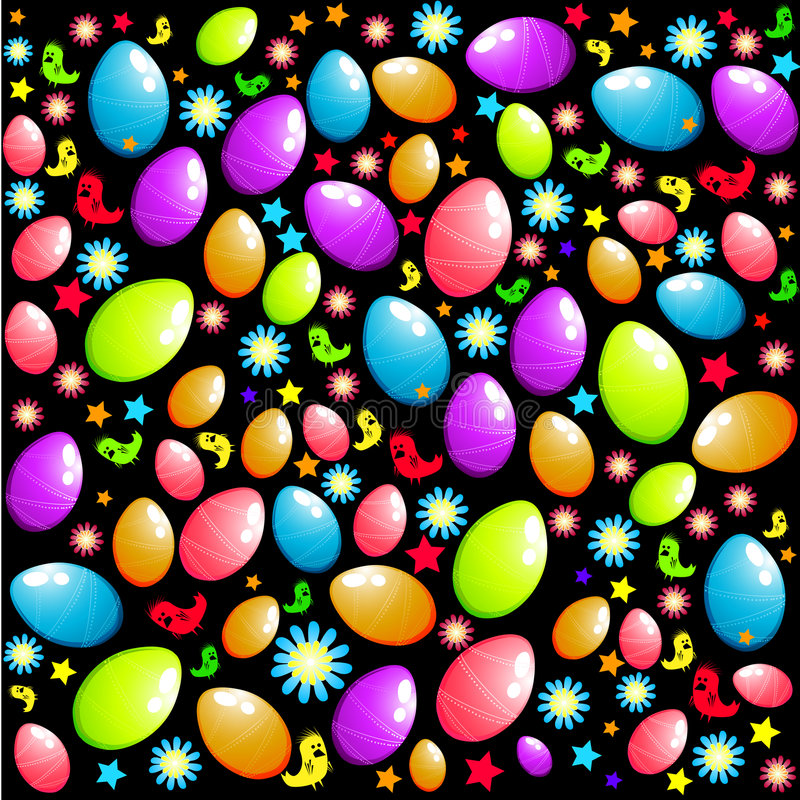 Easter Surprise Elements royalty free illustration