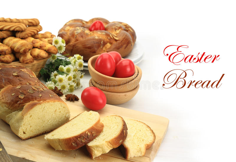 Easter sweet bread royalty free stock photography