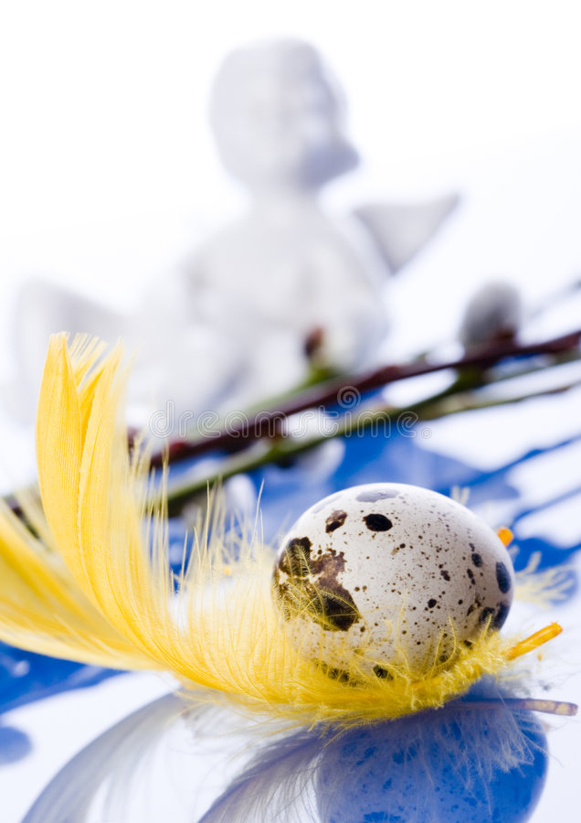 Easter symbol. Easter- the Sunday in March or April when Christians celebrate Christ's return to life stock photo