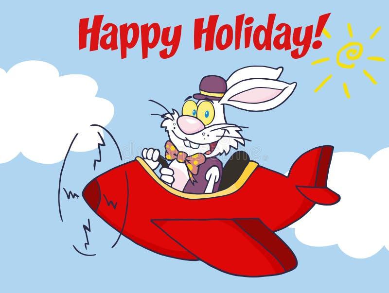 easter szczęśliwy wakacyjny królika biel royalty ilustracja