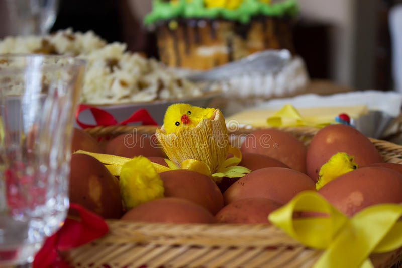 Easter table royalty free stock photography