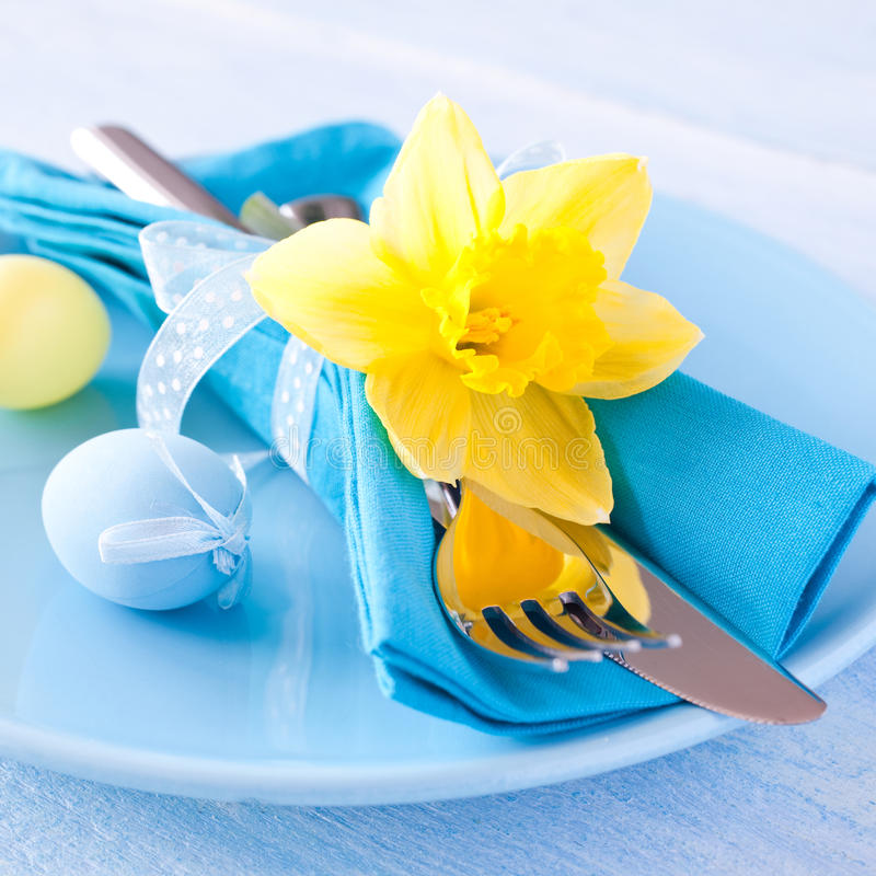 Download Easter table setting stock photo. Image of color, invitation - 29092046