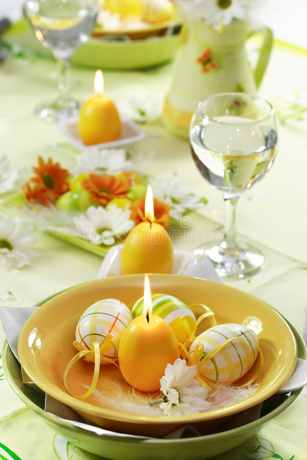 Download Easter table setting stock image. Image of holiday, glasses - 3957521