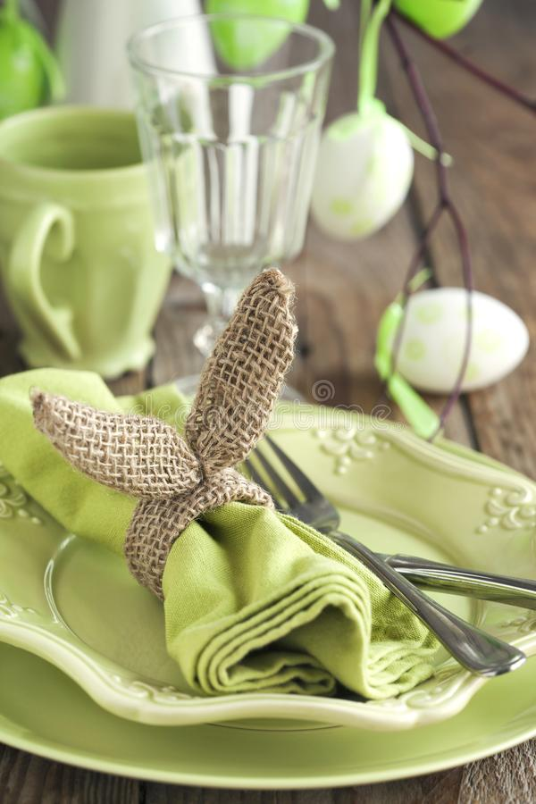 Easter table setting. Holiday Decorations. royalty free stock image