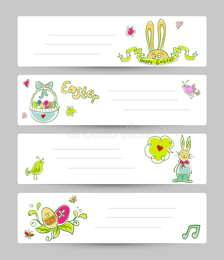 Easter templates royalty free illustration