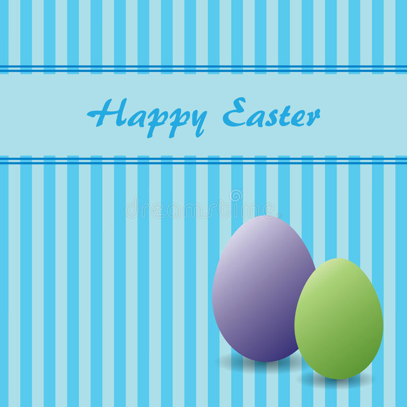 Easter theme with two eggs vector illustration