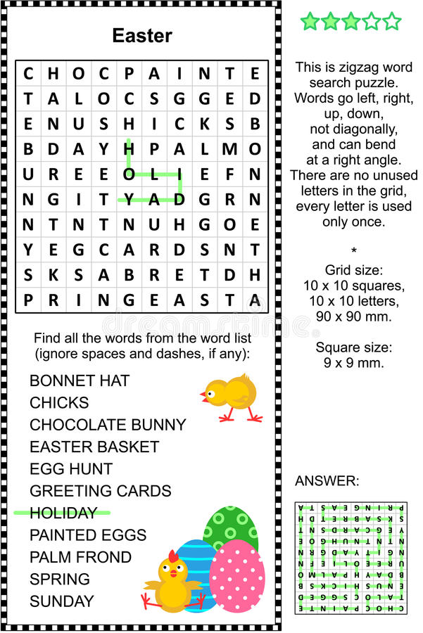 Easter Word Search Clip Art