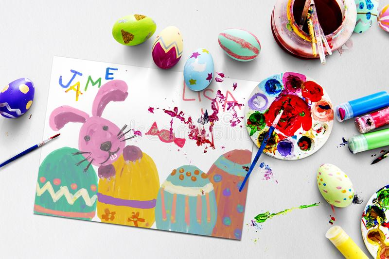 Easter traditional to paint eggs stock photography