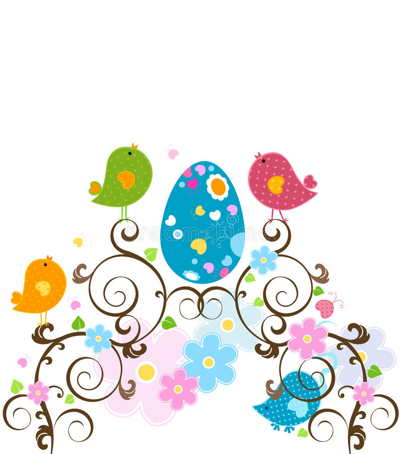 Easter tree royalty free illustration