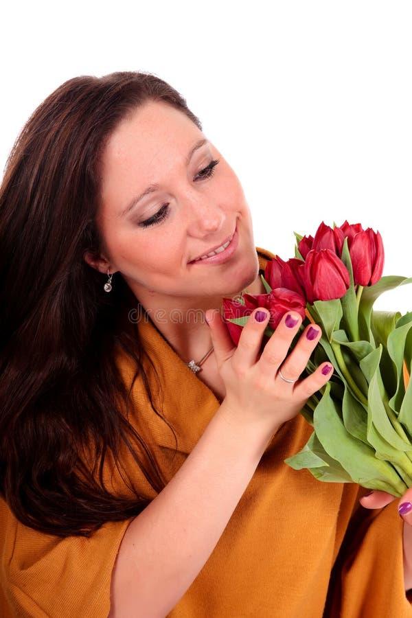 Download Easter tulipanów kobieta zdjęcie stock. Obraz złożonej z kwiecisty - 13329962