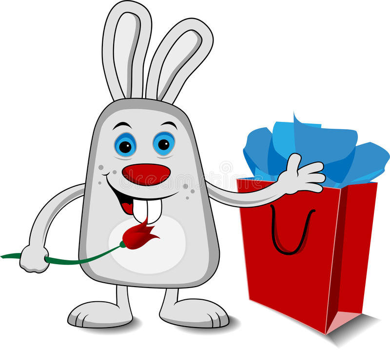 Download Easter Vector Bunny stock vector. Image of background - 23721698