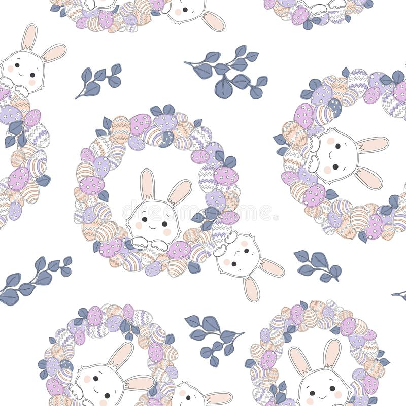 Easter vector seamless pattern royalty free illustration