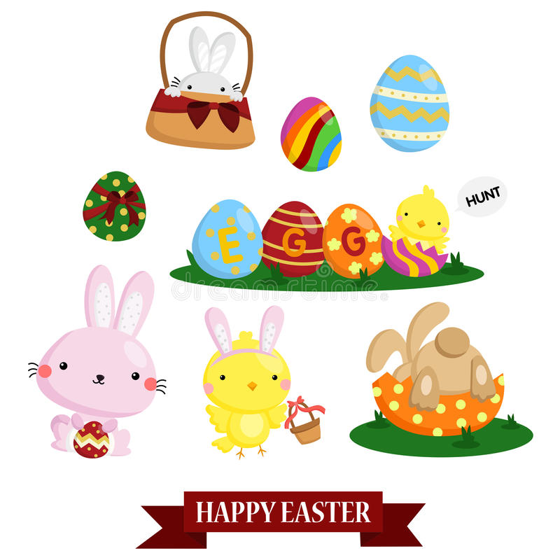 Easter Vector Set vector illustration