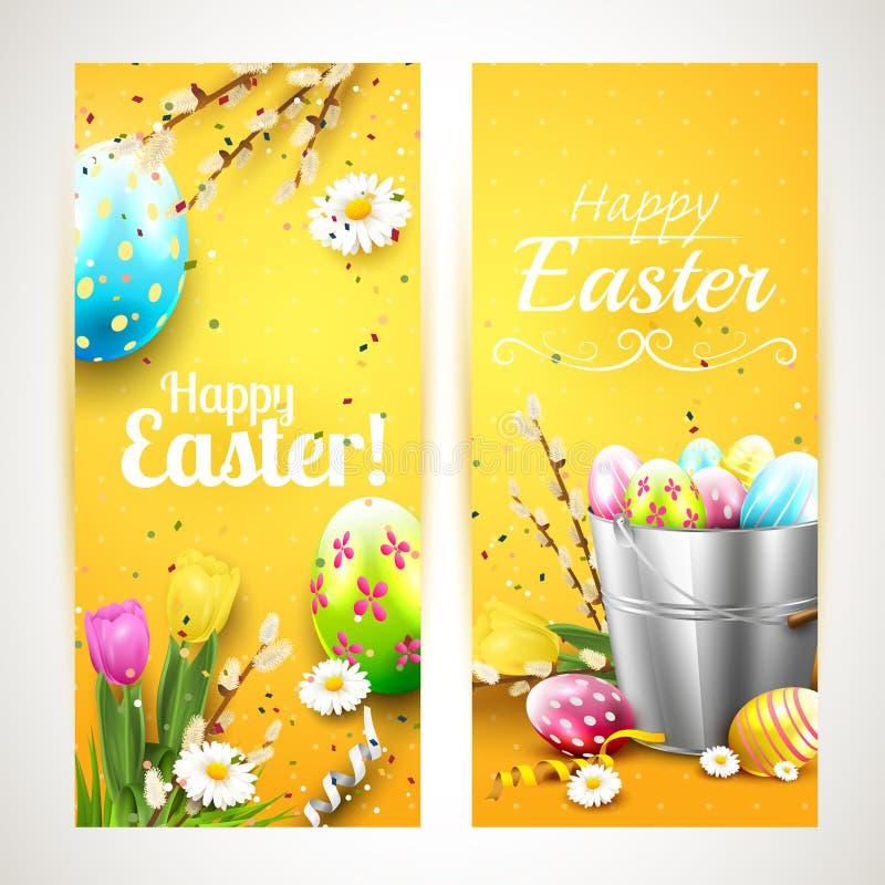 Easter vertical banners stock illustration