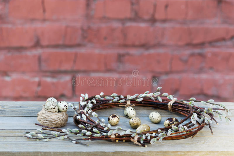 Easter wreath royalty free stock images