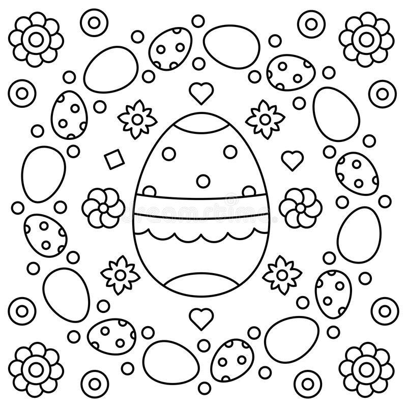 download easter wreath coloring page vector illustration stock vector illustration of illustration - Wreath Coloring Page