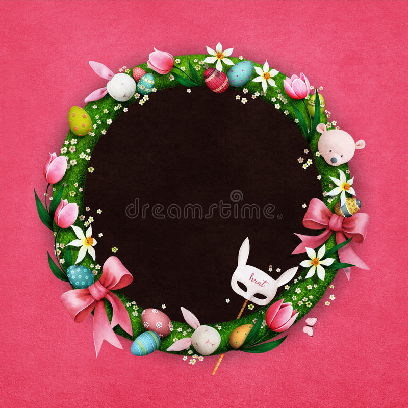Easter wreath royalty free illustration
