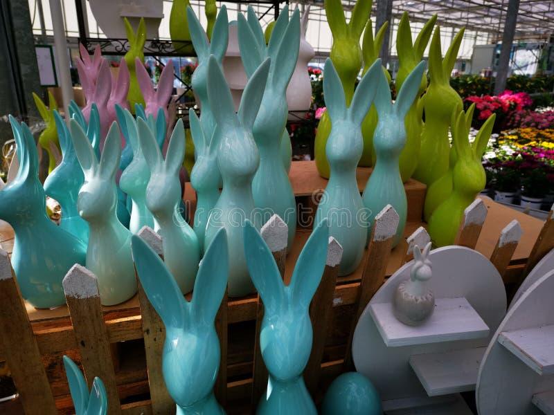 Easterbunnies fotografering för bildbyråer
